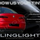 Alfa Romeo 159 Tinted Smoked Protection Overlays Film for Taillamps Taillights Tail Lamps Lights