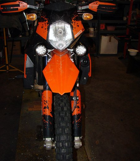 KTM 640 Adventure R Duke 2 LED Fog Lamps Driving Lights Foglamps Foglights Drivinglights Kit
