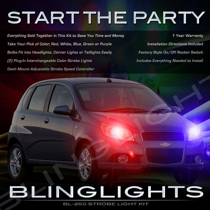 Holden Barina Strobe Police Light Kit for Headlamps Headlights Head Lamps Lights Strobes