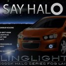 2012 2013 Holden Barina Halo Fog Lamp Driving Light Kit Angel Eyes