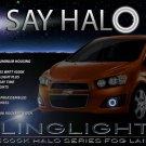 2012 2013 Holden Barina Halo Fog Lamp Driving Light Kit Angel Eyes