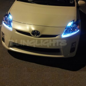 Toyota Prius LED DRL Light Strips for Headlamps Headlights Head Lamps