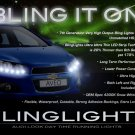 Daewoo Gentra LED DRL Light X Strips for Headlamps Headlights Head Lamps Day Time Running Lights