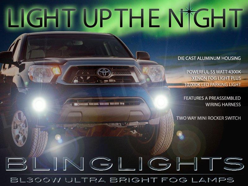 2012 2013 2014 2015 Toyota Tacoma Xenon Fog Lamps Bumper Lights