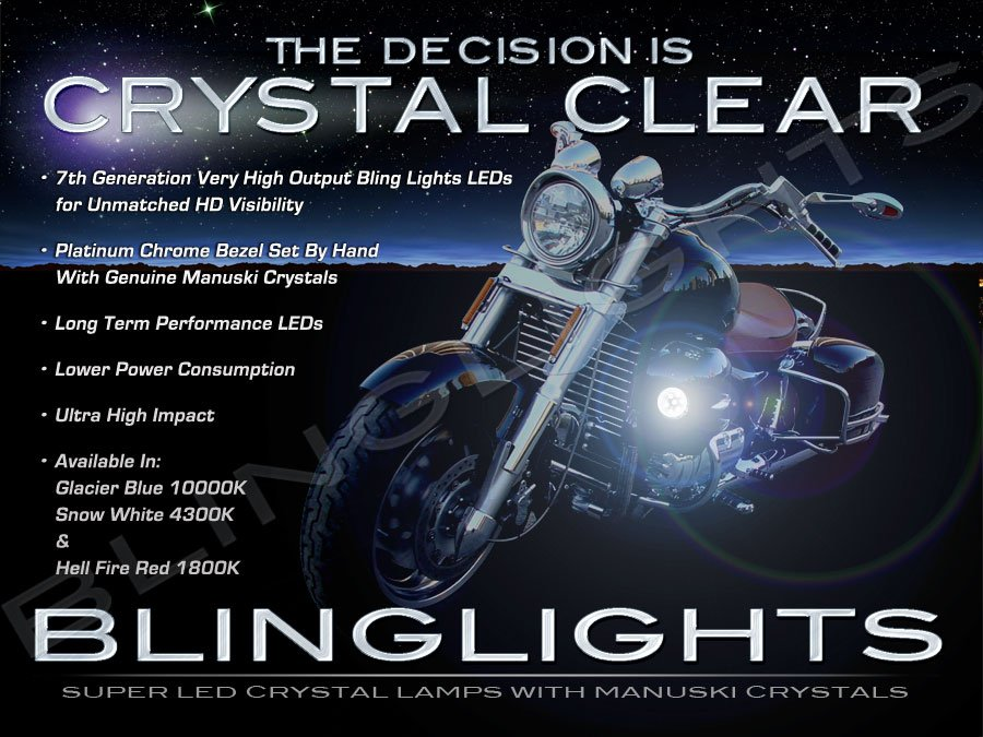 Honda Valkyrie Interstate GL1500CF F6C LED Fog Lamps Driving Lights Foglamps Foglights Kit
