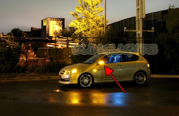 Hyundai Brio LED Side Mirrors Turnsignals Lights Mirror Turn Signals Lamps Signalers