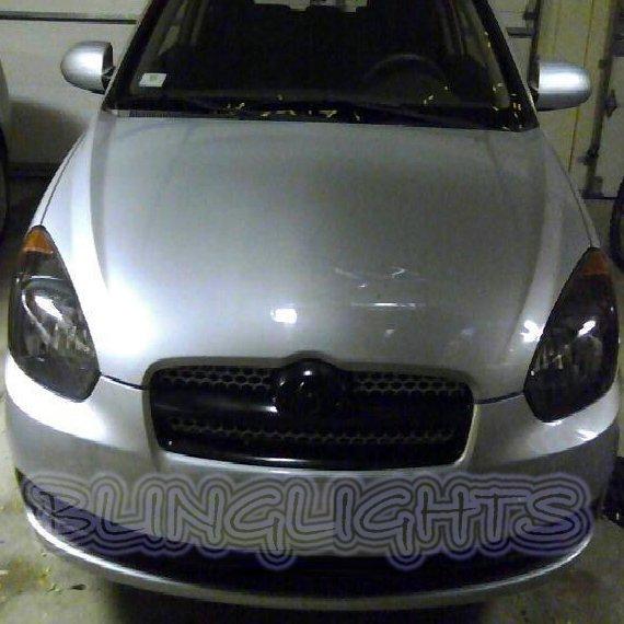Hyundai Avega Tinted Smoked Headlight Headlamp Overlays Film Protection
