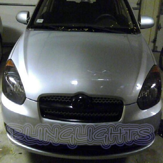Hyundai Verna Tinted Smoked Headlamp Headlight Overlays Film Protection