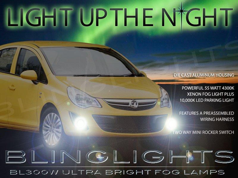 2007 2008 2009 2010 2011 2012 Vauxhall Corsa Xenon Fog Lamps Driving Lights Foglamps Kit