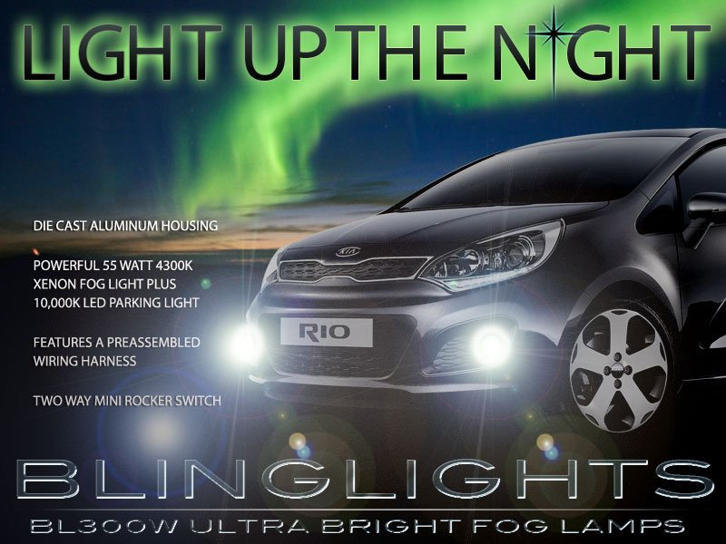 2012 2013 2013 Kia All New Pride Xenon Fog Lamps Driving Lights Foglamps Foglights Kit