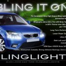Kia Euro Star LED DRL Light Strips for Headlamps Headlights Head Lamps Day Time Running Strip Lights