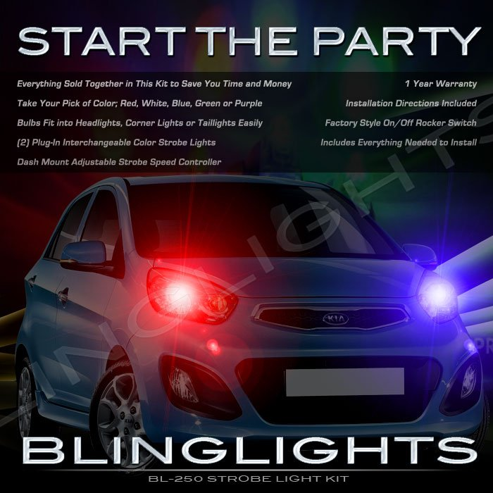 Naza Picanto Strobe Police Light Kit for Headlamps Headlights Head Lamps Strobes Lights