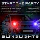 Naza Picanto Strobe Police Light Kit for Headlamps Headlights Head Lamps Strobes Lights