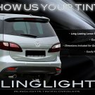 2012-2014 Mazda Premacy Tinted Tail Lamp Light Overlays Kit Smoked Protection Film
