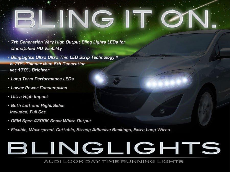 Mazda Premacy LED DRL Head Light Strips Day Time Running Lamps Kit