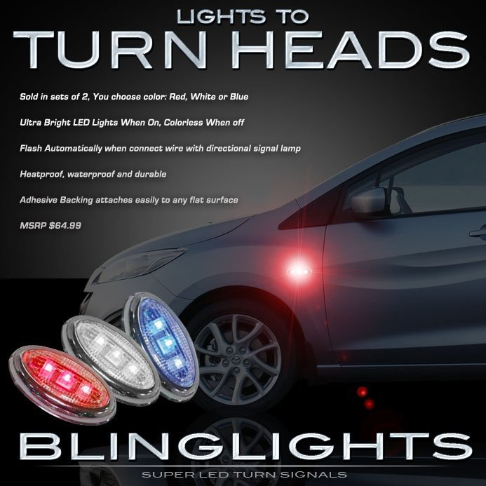 Mazda Premacy LED Side Markers Turnsignals Lights Accents Turn Signals Lamps Signalers Blinkers