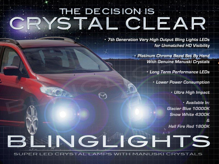 2005-2010 Mazda Premacy LED Fog Lamps Driving Lights Kit Foglamps Drivinglights
