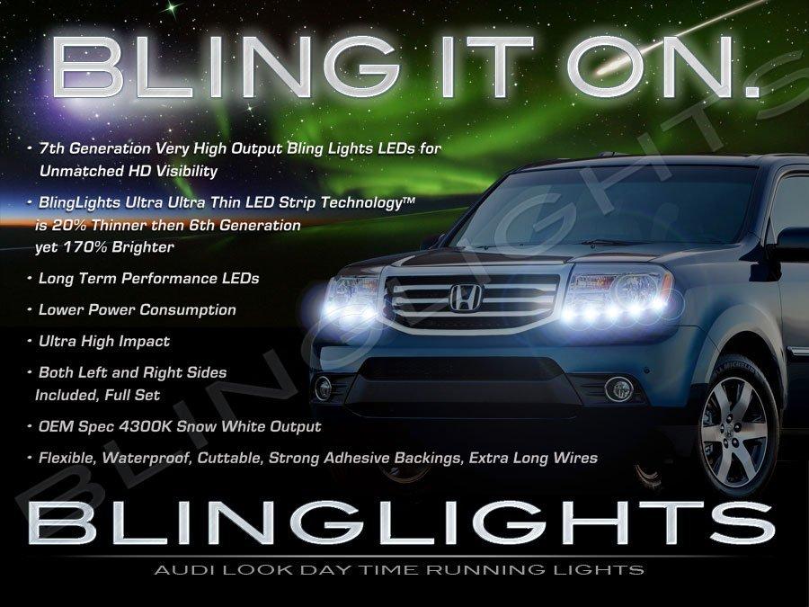 Honda MR-V LED DRL Light Strips for Headlamps Headlights Head Lamps Day Time Running Strip Lights