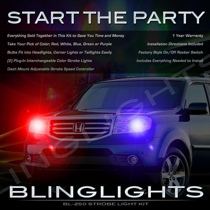 Honda MR-V Strobes Police Light Kit for Headlamps Headlights Head Lamps Strobe Lights
