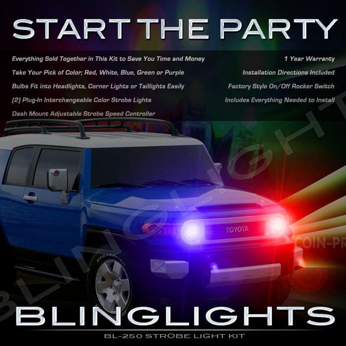 Toyota FJ Cruiser Strobes Police Light Kit for Headlamps Headlights Head Lamps Strobe Lights