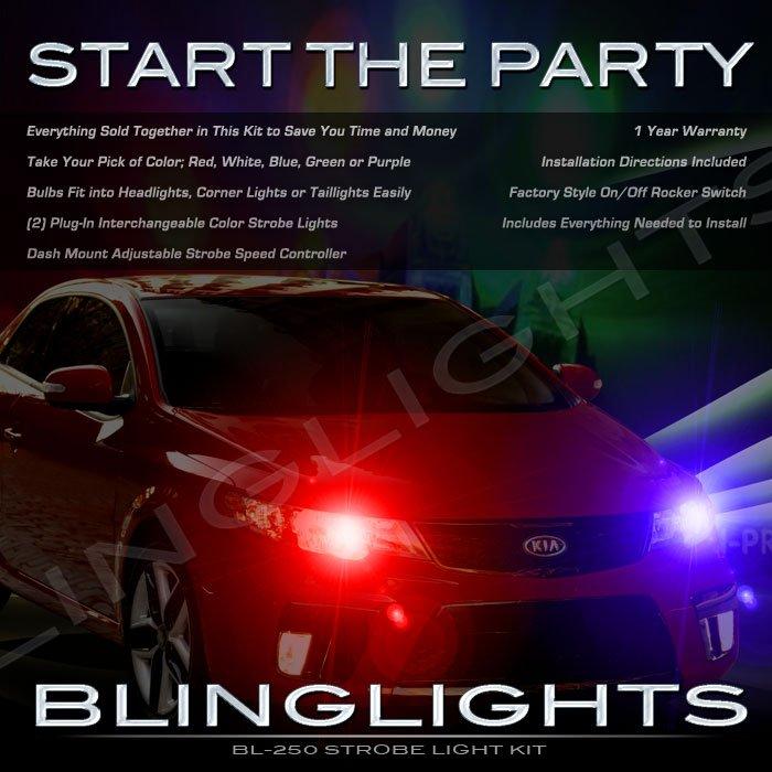 Kia Cerato Strobe Police Light Kit for Headlamps Headlights Head Lamps Strobes Lights