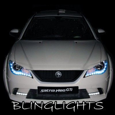 Proton Satria Neo LED DRL Light Strips for Headlamps Headlights Head Lamps Day Time Running Lights
