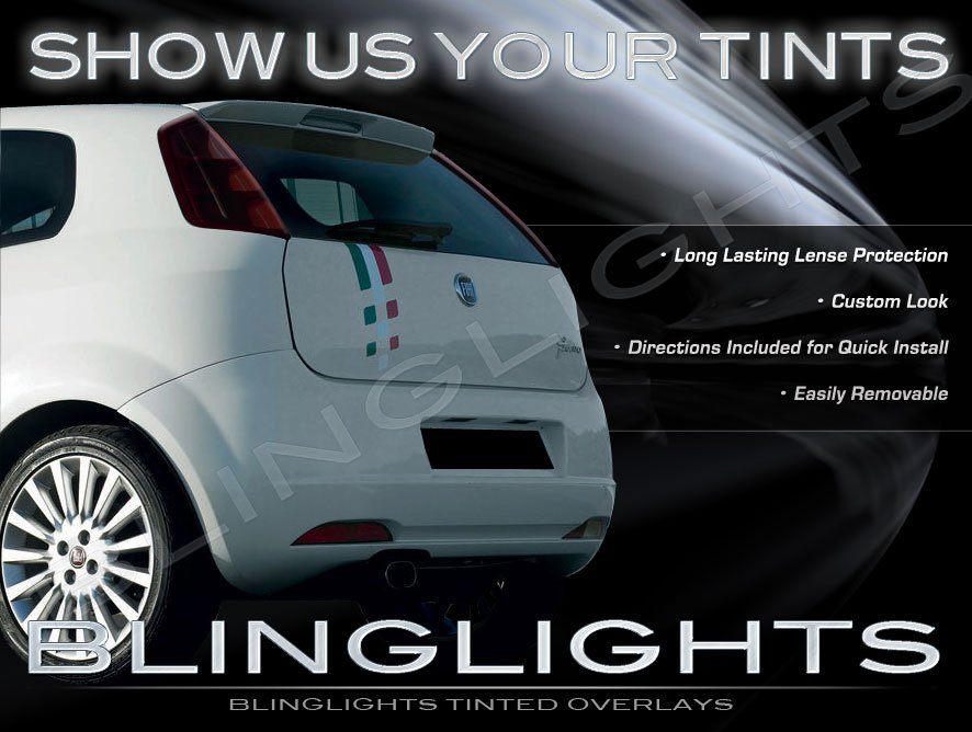 Fiat Grande Punto Evo Smoked Taillamp Taillight Tinted Covers