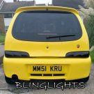 Fiat Seicento 600 Tinted Smoked Taillamps Taillights Tail Lamps Lights Protection Overlays Film