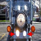 1983 1984 1985 1986 Honda Magna V65 VF1100C Xenon Driving Lights Fog Lamps Foglamps Foglights kit