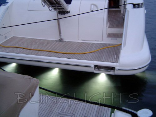 Azimut Yacht LED Underwater Aqua Lamp Marine Under Fish Boat Lights Custom Thru Hull Lighting