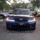 2003 2004 Infiniti M45 LED DRL Light Strips Headlamps Headlights Head Lamps Day Time Running Lights