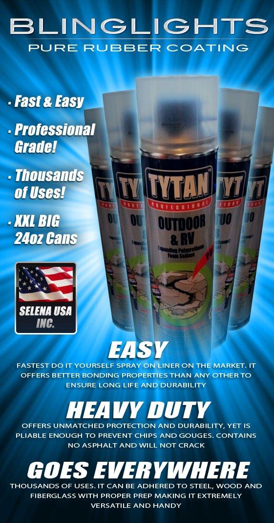 12x Tytan RV Pro Black Rubber Flex Foam Seal Spray Sealant Can Selena USA Indoor Outdoor Repair 24oz