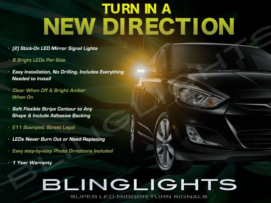 Dodge Attitude LED Side Mirrors Turn Signals Lights Turnsignals Lamps Mirror Signalers
