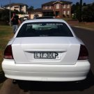 Mitsubishi Magna Verada Tinted Smoked Protection Overlays for Taillamps Taillights Tail Lamps Lights