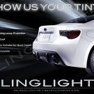 Scion FR-S Tinted Smoked Protection Overlays Film for Taillamps Taillights Tail Lamps Lights
