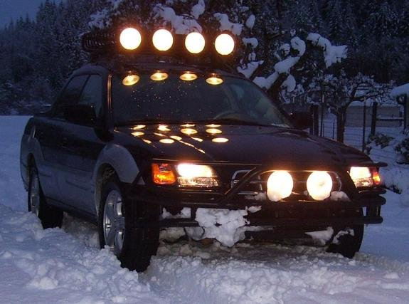 Subaru Baja Off Road Auxilliary Driving Lights Bumper Light Bar Offroad Lamps Kit
