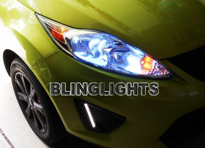 2011 2012 2013 Ford Fiesta Bright White Replacement Upgrade Light Bulbs for Headlamps Headlights