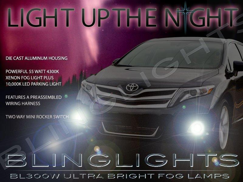 2013 2014 2015 Toyota Venza Xenon Fog Lamps Driving Lights Foglamps Foglights Kit