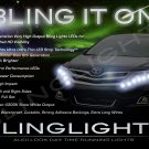 2013 2014 Toyota Venza LED DRL Light Strips Headlamps Headlights Day Time Running Lamps Lights