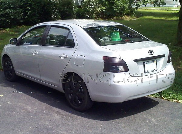 Toyota Belta Tinted Smoked Protection Overlays Film for Taillamps Taillights Tail Lamps Lights