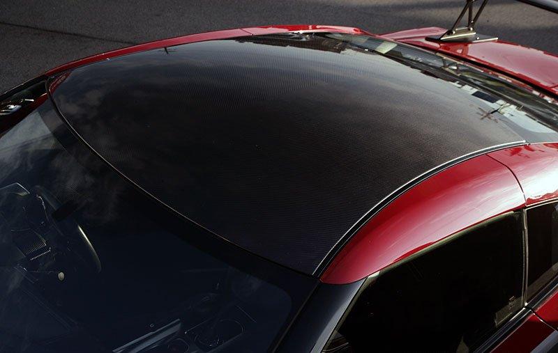 Nissan GT-R Black Carbon Fiber Protective Roof Panel Overlay Vinyl Film