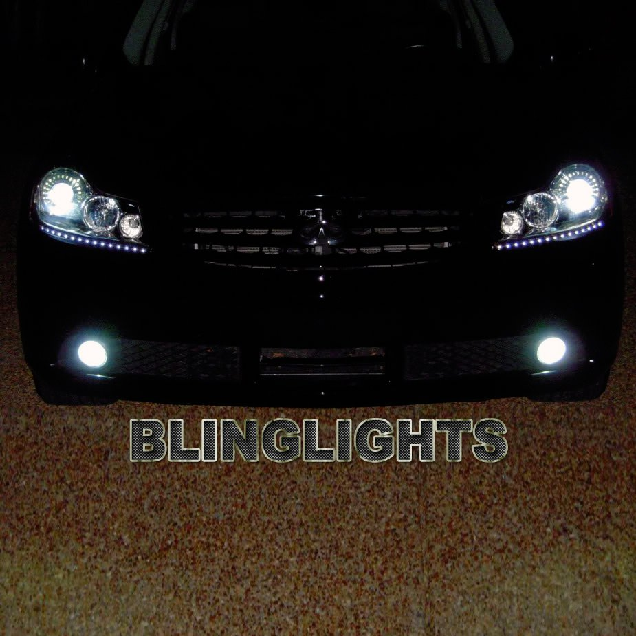 2011 2012 2013 Infiniti M30d LED DRL Light Strips Headlamps Headlights Day Time Running Lamps Lights