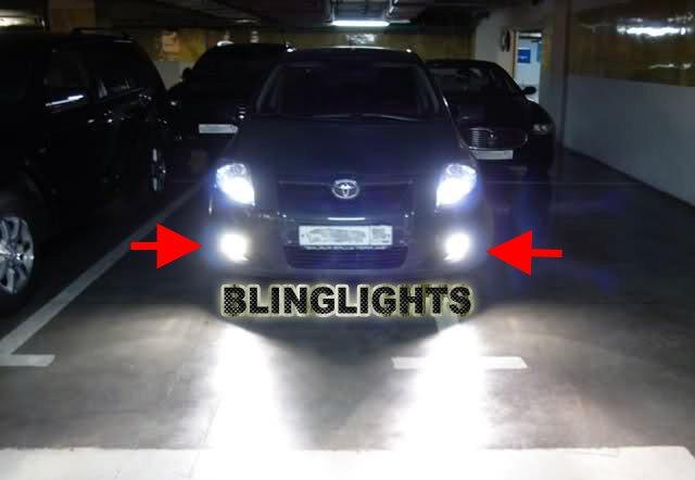 2007 2008 2009 Toyota Auris Xenon Fog Lamps Driving Lights Foglamps Foglights Kit
