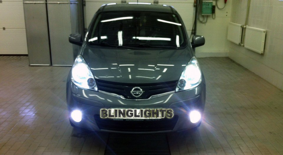 Nissan Note White Head Lamp Replacement Light Bulbs Set Bright Upgrade Pair