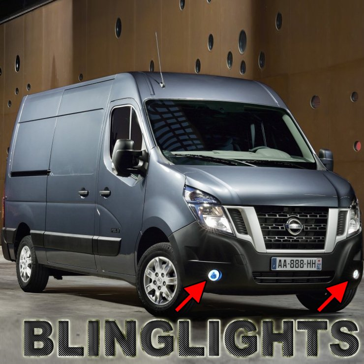 nissan nv cargo passenger van halo fog lamps lights nv1500 nv2500 nv3500 hd. Black Bedroom Furniture Sets. Home Design Ideas