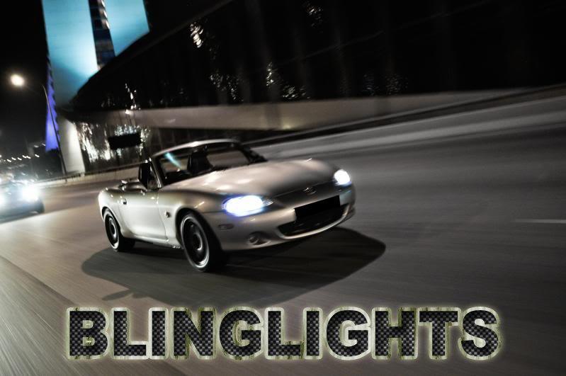 Mazda Miata MX-5 MX5 Bright Headlamp Headlight Bright White Upgrade Replacement Light Bulbs