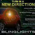 Nissan Qashqai LED Side View Mirror Turnsignals Lights Mirrors Turn Signalers Lamps Signals Set
