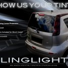 Nissan Note Tinted Tail Lamp Light Overlays Kit Smoked Film Protection