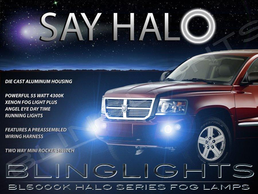 2008 2009 2010 2011 Dodge Dakota Halo Fog Lamps Angel Eye Driving Lights Foglamps Foglights Kit