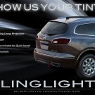 Buick Enclave Tinted Smoked Taillamps Taillights Tail Lamps Lights Protection Overlays Film